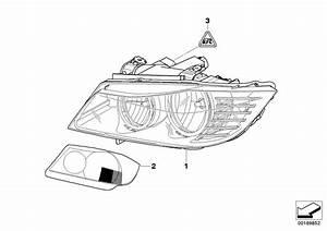 Bmw 328i Bi-xenon Headlight  Right  Zkw