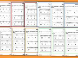 addition and subtraction using a number line year 1 by classroomsecrets teaching resources