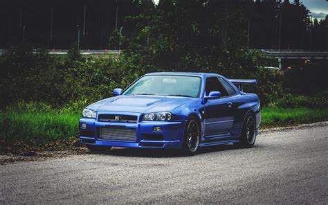 Nissan Gtr Blue Gtr Gt R34 4k Iphone Wallpaper