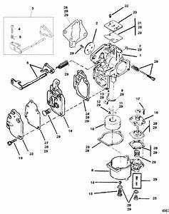 Mariner 8 Hp Carburetor Assembly Parts