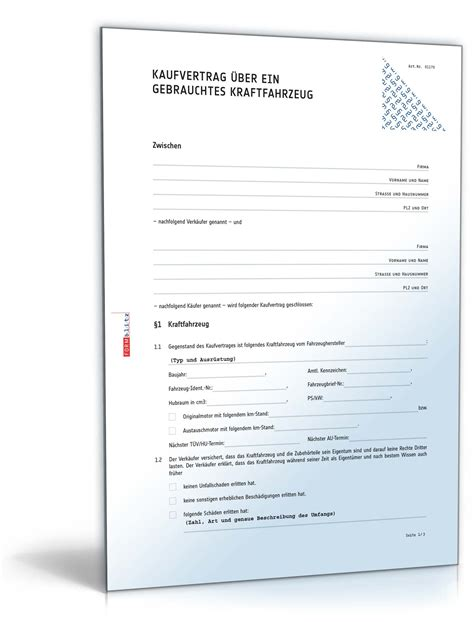 kfz kaufvertrag gewerblich rechtssichere vorlage downloaden
