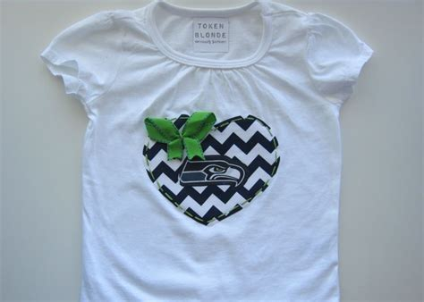 Seattle Seahawks Inspired Girls Game Day Shirt Or Onesie