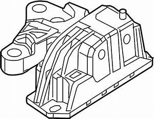 2008 Volvo S40 2 4l 5 Cylinder Engine Mount  Remove  Necessary