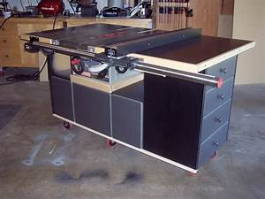 Bakes : Table saw cabinet woodworking plan