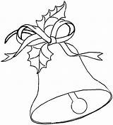 Bell Coloring Christmas Bells Printable Cartoon Template Mistletoe Printables Popular Santa Coloringhome Mamvic sketch template