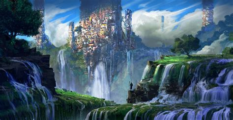 fantasy landscape  ultra hd wallpaper hintergrund
