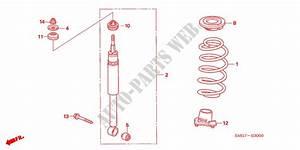 Rear Shock Absorber For Honda Cars Civic 1 8 Ex 5 Doors 6