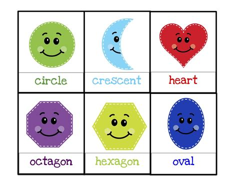 shapes printable preschool printables