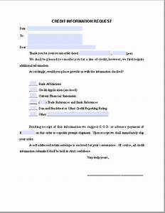 credit information request letter free fillable pdf forms With credit report request form letter