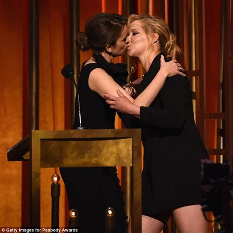 tina fey fan mail amy schumer shares passionate kiss with tina fey at the