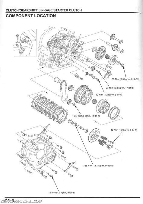 honda cbr  fa motorcycle service manual