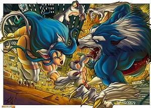 Darkstalkers 3 Art between Felicia and Talbain