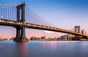 Papier Peint Fresque Pont De Manhattan