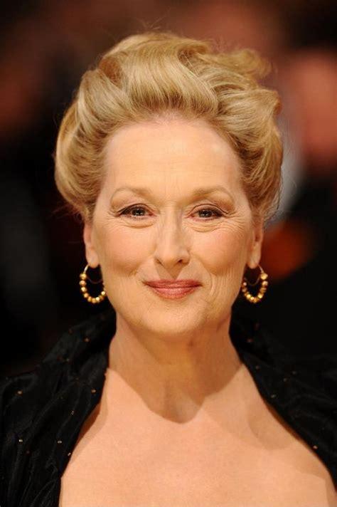 meryl streep hairstyles   older women  fine hair