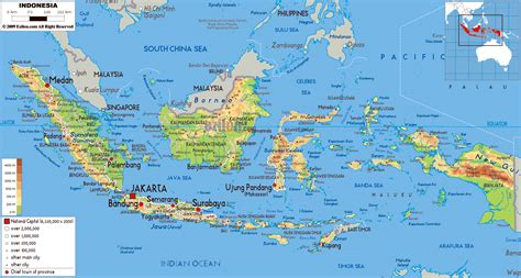 maps  indonesia detailed map  indonesia  english