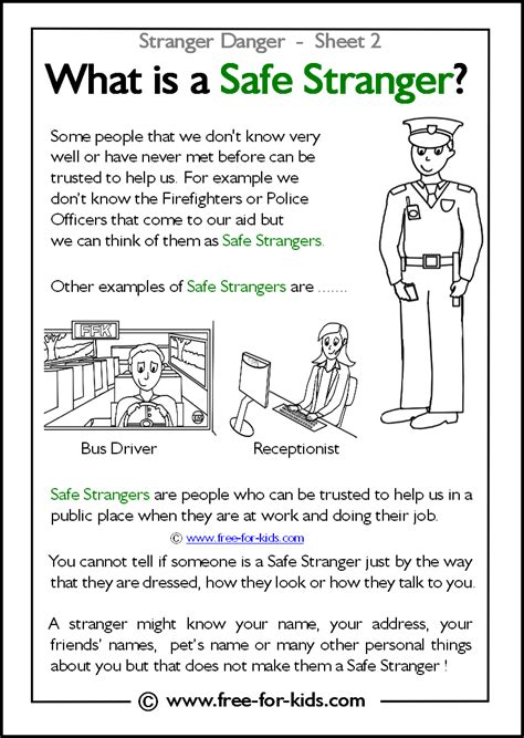 teaching stranger danger to preschoolers danger worksheets and colouring pages 462