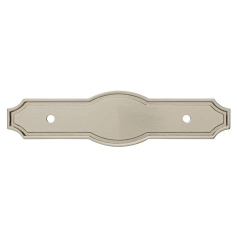liberty pryce 3 in satin nickel cabinet pull backplate