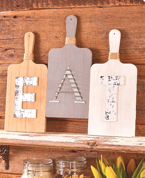 Shop online wide range of wall art, wall painting, canvas painting for home and wall decoration upto 90% off from top brands on snapdeal.com. Country Farmhouse Kitchen Cutting Board 3Pc EAT Wall Hanging Display