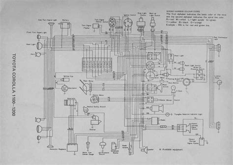 Toyotum Quantum Wiring Diagram by Toyota Corolla 20 Series 1100 1200 Electrical Wiring