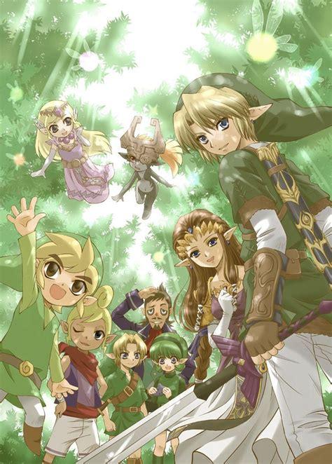 Zelda And Link Through The Years Legend Of Zelda 0