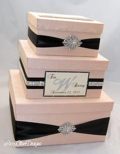wedding card box wedding gift box bling card box blush pink wedding box