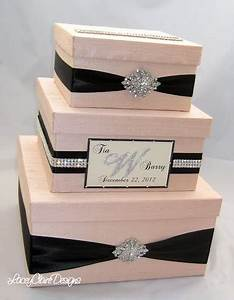 Wedding gift box bling card box blush pink wedding box for Gift card boxes for weddings