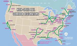 U.S. High-Speed Rail Corridor Designations [1061 x 635 ...