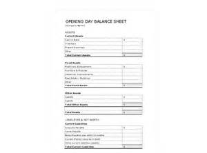 Day Sheet Template Opening Day Balance Sheet Submited Images