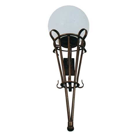 melody wall light with poly sphere top lighting melody classic wall bracket with poly sphere top lighting
