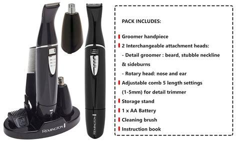 remington nose hair trimmer mens cordless beard ear face shaver body