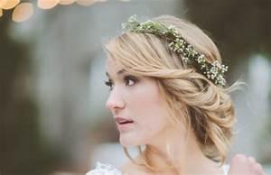 Couronne De Fleurs Cheveux Mariage : coiffure avec couronne ~ Farleysfitness.com Idées de Décoration