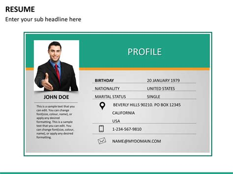 business resume template template business