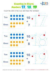 kindergarten number tracing   worksheet kids