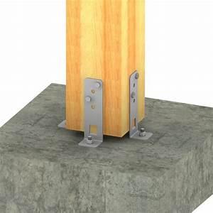 Ancrage Poteau Bois : pied de poteau de jardin r glable en largeur simpson ~ Edinachiropracticcenter.com Idées de Décoration