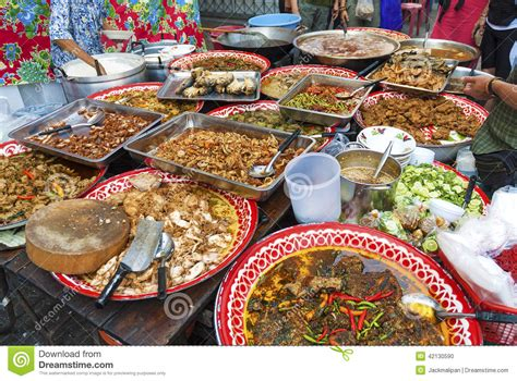 cuisine thailande food stall in stock photo image 42130590