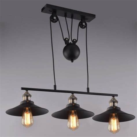 pendant light design multiple black metal  lampshade