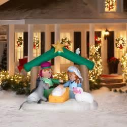 6 tall airblown christmas nativity scene inflatable christmas decor walmart com