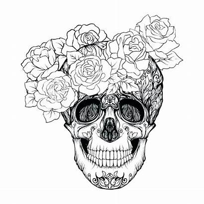 Rose Coloring Tattoo Pages Outline Drawings Drawing