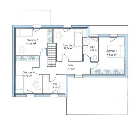 plan de maison contemporaine 4 chambres formidable plan maison etage 4 chambres gratuit 3 plan