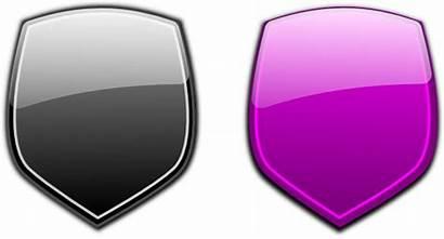 Grey Shields Glossy Shield Clip Clker Vectors
