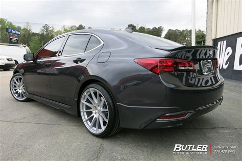 acura tlx with 20in mrr gf6 wheels exclusively from butler