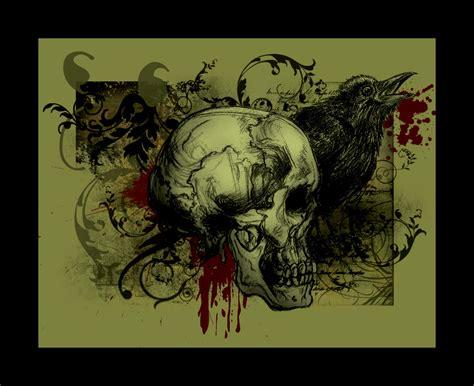 .skull And Raven. By Venix-ekstasis On Deviantart