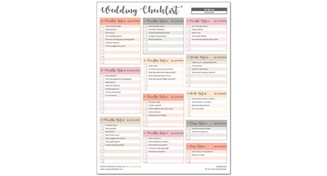 Small Wedding Checklist Pdf