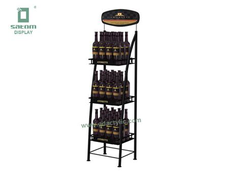 wire display racks top logo advertising retail pop displays customized 3 4