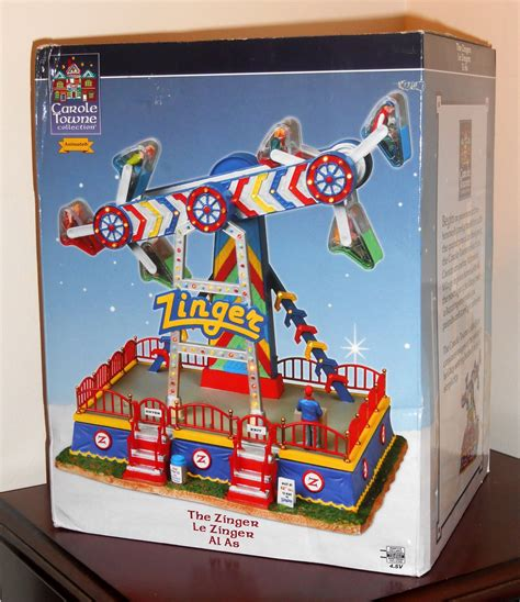 sold out lemax the zinger animated carnival ride carole