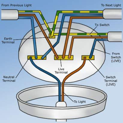 Wiring Ceiling Rose Electronic Diy Light