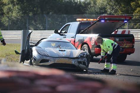 koenigsegg nurburgring new koenigsegg agera development car has serious crash on