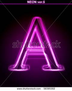Neon Pink Font Stock Royalty Free & Vectors