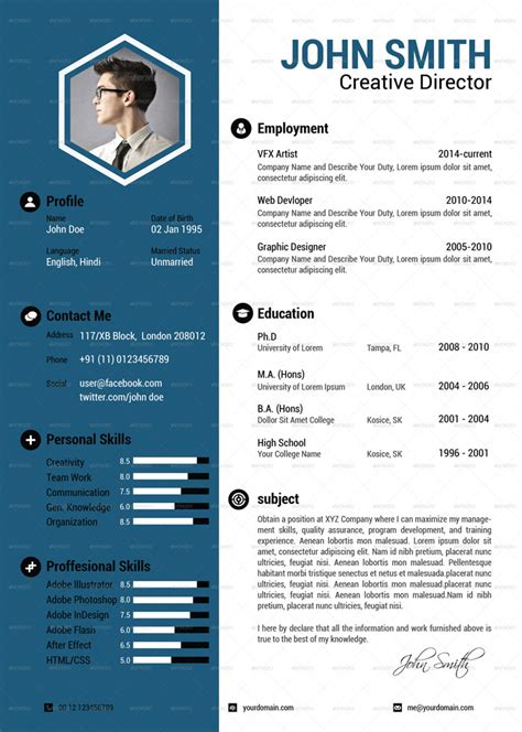Attractive Resume Template by 25 Attractive Print And Resume Templates