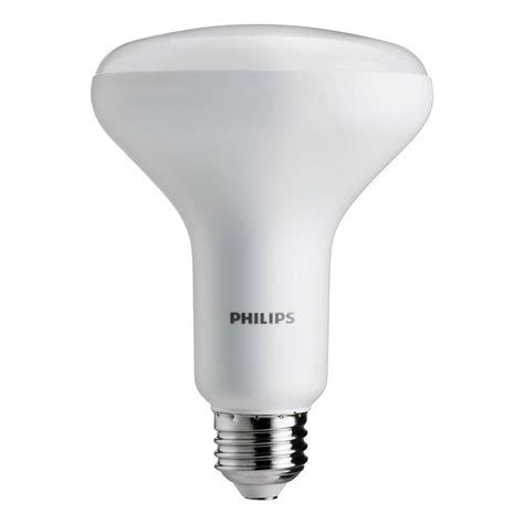 home depot led light bulbs philips 65w equivalent daylight br30 dimmable led light